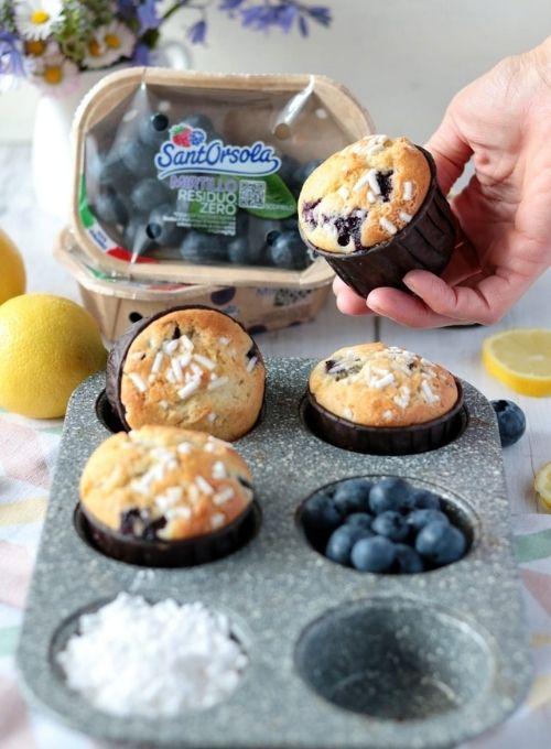 Muffin-ai-mirtilli-mirtillo-residuo-zero-Sant'Orsola-viedeoricetta
