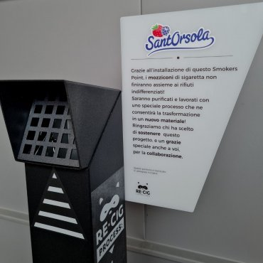 Sant'Orsola-Recig-smaltimento-riciclo-mozziconi-sigaretta-Villaggio-Piccoli-frutti